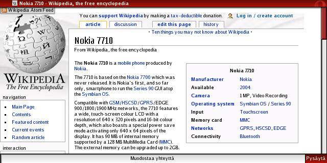 Symbiosis | Bluetooth internet for Nokia 7710 using Linux